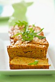 Vegetarian bean and carrot pâté with rocket