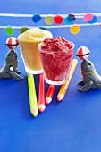 Fruit-flavoured frozen yoghurt