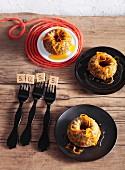 Mini Bundt cakes with poppyseed, orange zest and orange sauce