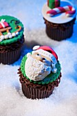 "Santa Cupcake in ""Snow"""