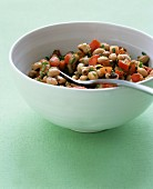 Texas caviar - black-eyed peas with jalapeno, tomato and bell pepper