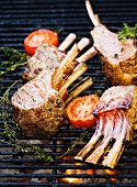 Grilled lamb with tomatoes, Sweden.