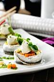 Boquerones en vinagre (sardines in vinegar with vegetables and avocado)