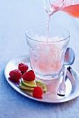 Raspberry granita