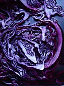 Boiled red cabbage (close-up)
