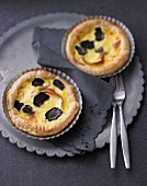 Truffle tartlets with Parma ham and crème fraîche