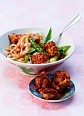 Turkey meatballs with rice noodles (Thailand)