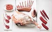Cuts of lamb