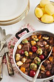 Boeuf Bourguignon with cherries
