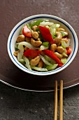 Celery with cashew nuts