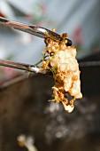 Deep-fried elderflowers in batter