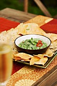 Chutney with coriander and chilli, served with tortilla chips