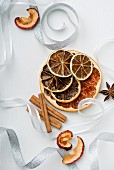 Dried fruit and cinnamon sticks as a Christmas decoration