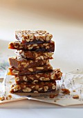 A stack of peanut brittle