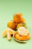 Still life with mandarines