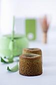 Matcha tea cakes