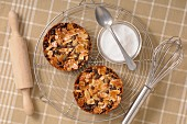 Almond and chocolate tartlets
