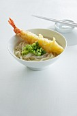 Ramen noodles with a tempura prawn (Japan)