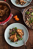 Haitian Chicken with Caribbean black beans and rice