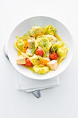 Tortellini with fish and vegetables