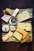 Various types of cheese from Germany