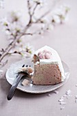 Cherry blossom sponge cake with cream