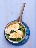 Stuffed chicken breast with feta and spinach