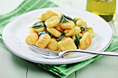 Home-made gnocchi with sage