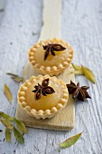 Quince tartlets with star anise