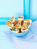 Salmon and egg wraps