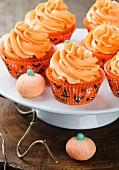 Autumnal pumpkin cupcakes
