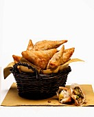 A basket of samosas