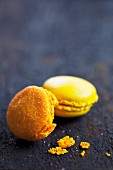 Lemon and orange macaroons