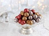 Glazed chocolate balls