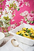 Spring soup with pasta and chard