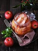 A jar of spiced apples