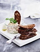 Smoked mackerel cream with grilled bread