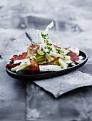 Chicory salad with crispy bacon