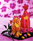 Preserved citrus fruits as Christmas presents