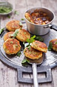Indian potato cakes with coriander salt