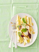 White asparagus with lemon butter and smoked sheep's cheese