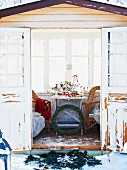 Christmas buffet in summerhouse