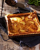Cheese tart with Langres cheese