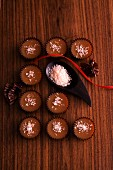 Caramel confectionery with fleur de sel