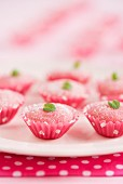 Bicho-de-pé (Brazilian strawberry sweets made with condensed milk)