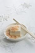 Tofu with bonito flakes for Christmas