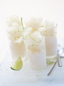 Elderflower granita with lime