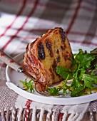 Potato cake wrapped in bacon