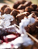 Grilled beetroot and venison skewers for an autumnal picnic
