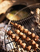 Grilled venison skewers for an autumnal picnic
